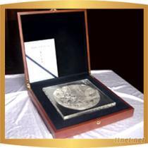 中國現代紀念金銀幣聚寶盆一公斤銀質紀念盤