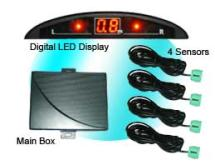 數碼LED倒車雷達