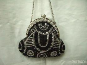 珠飾晚裝手提包