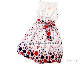 印花錦棉裙子