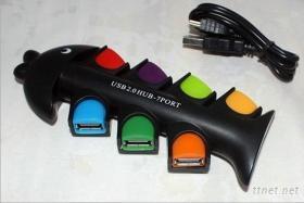 造型 7 PORT 2.0 USB Hub 集線器