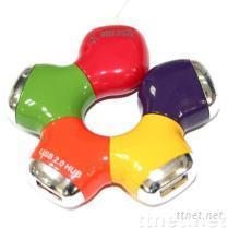甜甜圈 4 Port 2.0 USB Hub