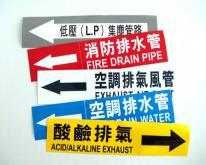 管路貼紙, 管線標示