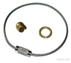 钥匙圈、钢丝绳、钥匙扣、珠链