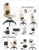 九國專利辦公椅挺腰器零件組