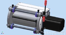 印刷机伺服马达拉纸机构
