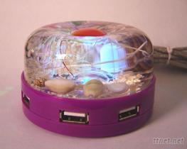 水晶USB集線器