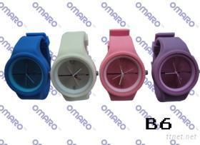 時尚硅膠手表 B6
