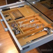 鋁框木製刀叉盤