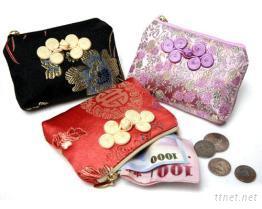 中國風緞面零錢包