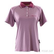 抗UV女款時尚流行條紋POLO衫