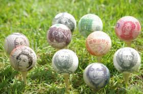圖案水晶球/ 圖案高爾夫球