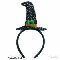万圣节巫婆帽发圈