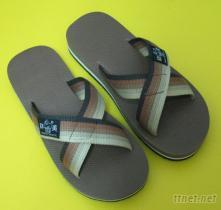厚款交叉織帶(X型), 橡膠防滑男女拖鞋