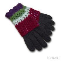 亮片裝飾針織手套
