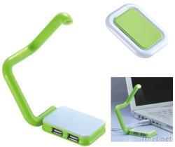 USB摺疊小台燈集線器