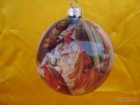 仿玻璃工藝貼畫聖誕球