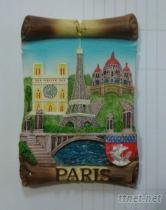 樹脂巴黎紀念品冰箱貼