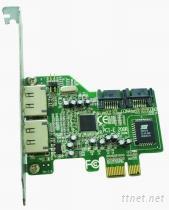 2個內接口SATA磁盤陣列PCI-e卡