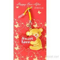 婚禮小物手機擦吊飾-愛的小熊