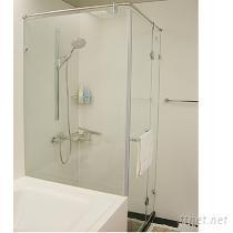 定制强化玻璃无框淋浴拉门