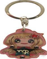 木製星砂鑰匙圈