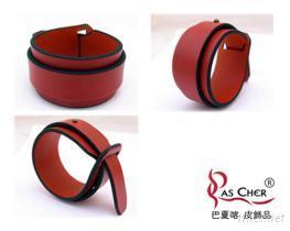 雙層素面皮手環 (M)
