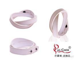 兩種繞法的纏繞系列皮手環 (S)