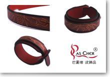 雕刻雙層皮手環 (M)
