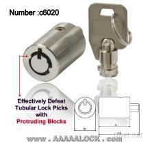 防萬能開鎖器管狀鎖-鎖心(c6020)