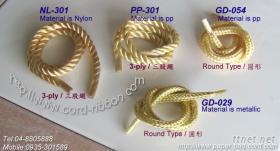 pp尼龍三股繩,金蔥手提繩