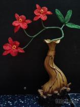 歐藝手工串珠人造花蘭花