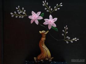 歐藝手工串珠人造花水仙花