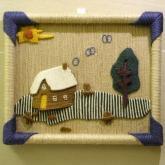 天然麻手工藝術品畫框〈相框掛畫掛飾吊飾壁掛壁畫〉,傢俱書桌電腦桌擺飾,環保居家裝飾品,禮品贈品