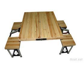 木質摺疊桌