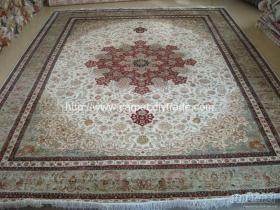 手工編織100%真絲地毯