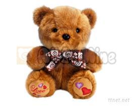 束毛鏽心熊-絨毛娃娃