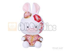 新年兔-绒毛玩具
