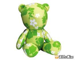 夏威夷花布熊-布娃娃