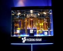 壓克力酒櫃結合LED和其他燈具