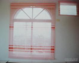自然典雅木織窗簾