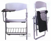可折疊培訓椅帶寫字板