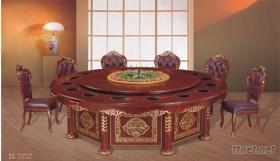 大理石分餐電磁爐火鍋桌