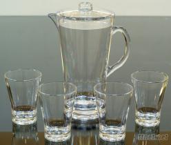 喇叭型水壶+水杯组, 塑胶杯, 压克力杯, 塑胶水壶