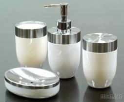 配五金卫浴组, 乳液罐, 肥皂盘, 牙刷架, 漱口杯