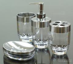 配五金卫浴组, 乳液罐, 肥皂盘, 漱口杯, 牙刷架