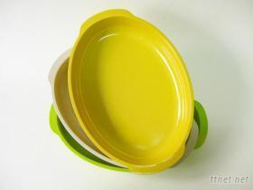 14吋橢圓雙耳托盤-彩色