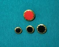 鈕釦 - 鑲金邊