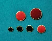 鑲金邊 鈕扣