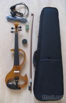 仿古色纯手工电声小提琴